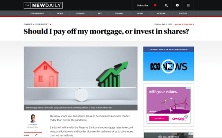 Should I pay off my mortgage, or invest in shares? – The New Daily