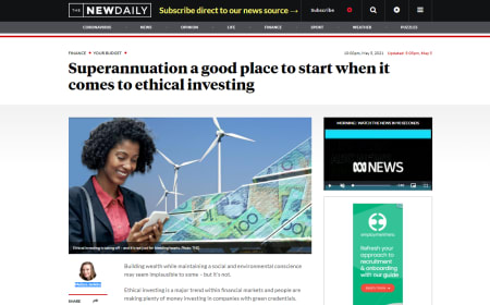 Superannuation a good place to start when it comes to ethical investing – The New Daily