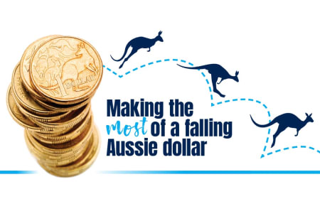 Making the most of a falling Aussie dollar