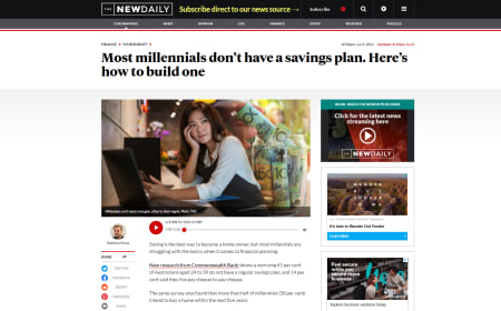 Most millennials don't have a savings plan. Here's how to build one – The New Daily