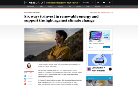 Six ways to invest in renewable energy and support the fight against climate change – The New Daily