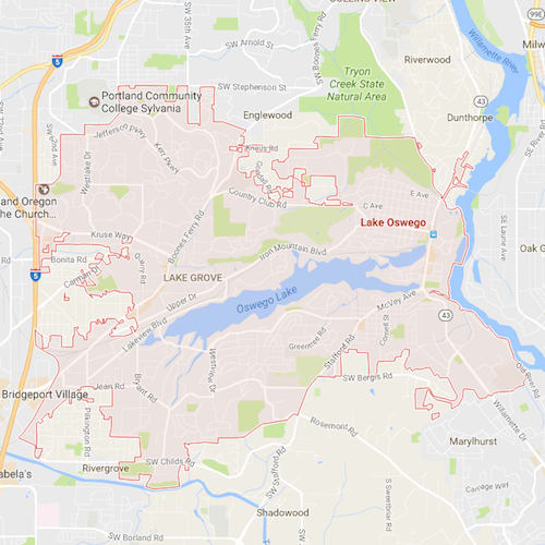 Lake Oswego City Map