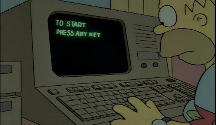 Simpsons Any Key