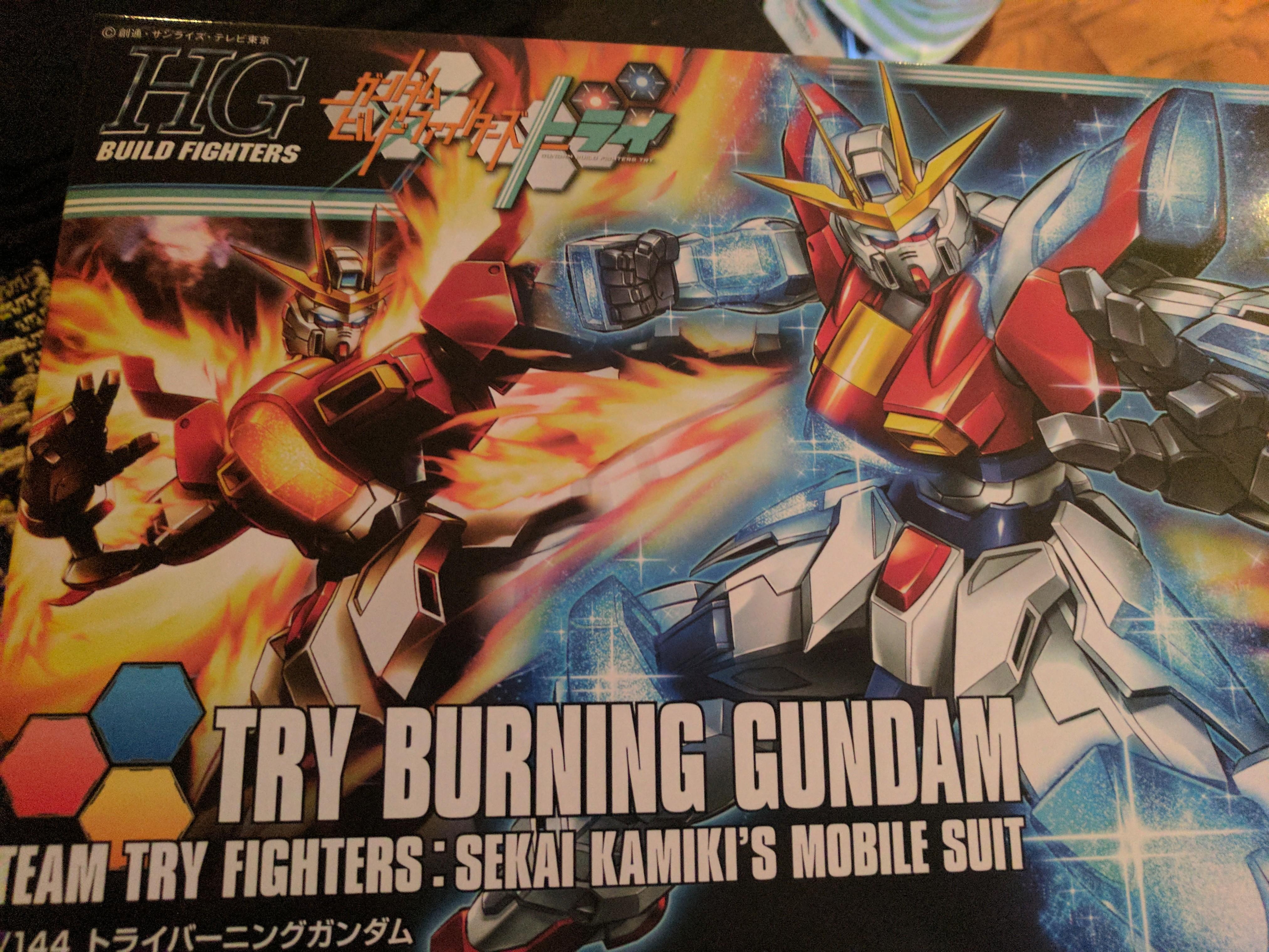 """My First Gundam Plastic Model (Gunpla) - """"Try Burning Gundam"""""""