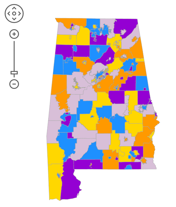 Alabama School Districts Map