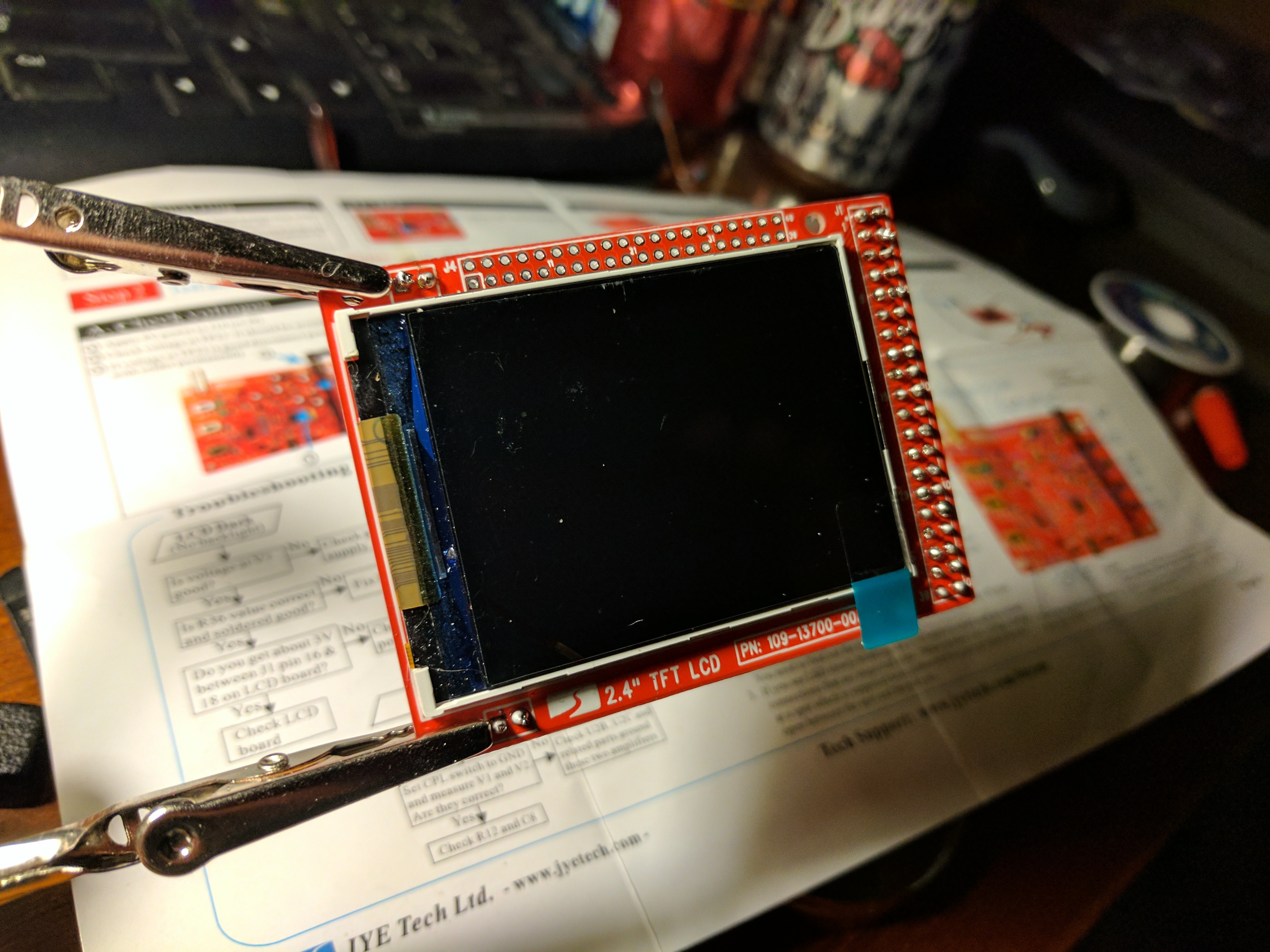 Front of LCD panel