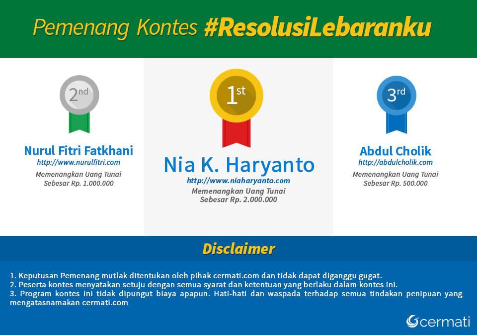 Pemenang Lomba Blog Resolusi Lebaran - Cermati.com