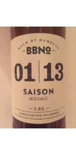 Brew By Numbers 01/13 Saison - Mosaic
