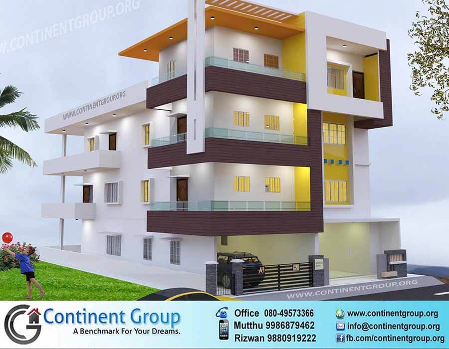 Front Elevation Of Buildings Designs : D building elevation front continent group