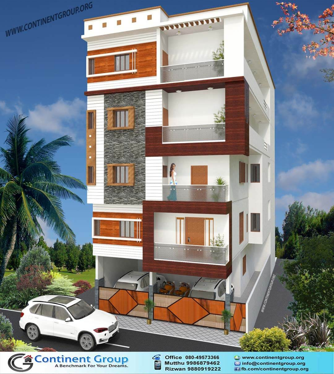 D Front Elevation Of Building : Ground floor elevation building