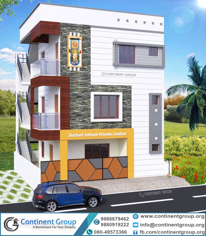 Floor Front Elevation Xp : Floor plan of g residential building