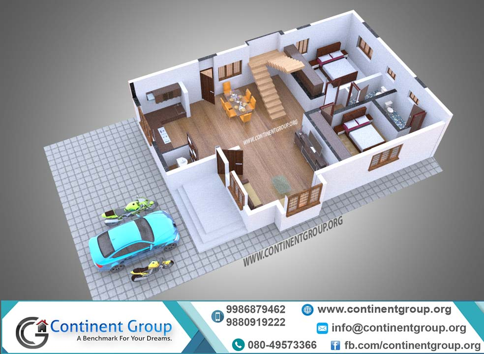 3d floor plan bangalore service with parking
