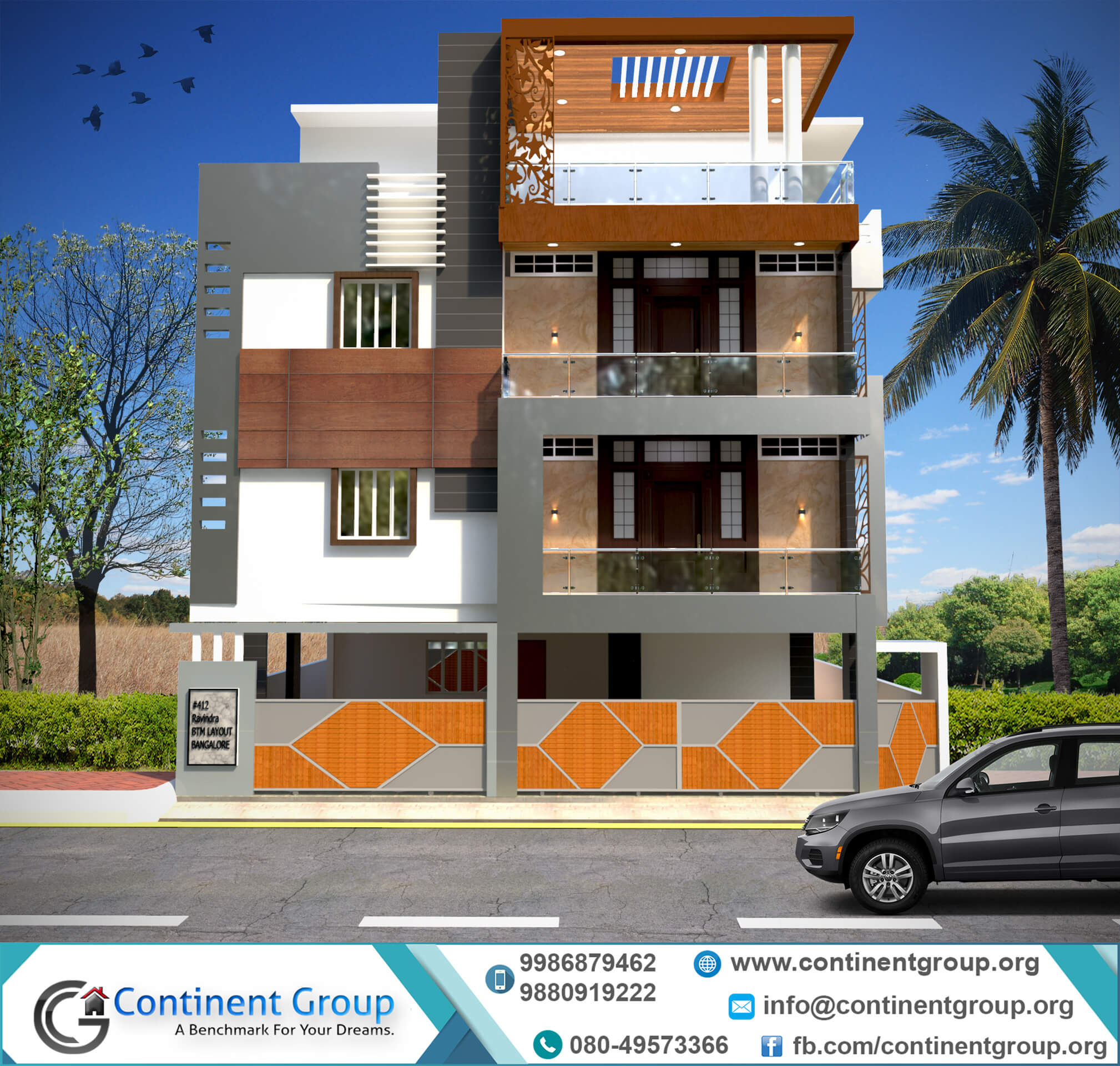 Indian House Design Front View 3d Building Elevation 3d Front Elevation Continent Group