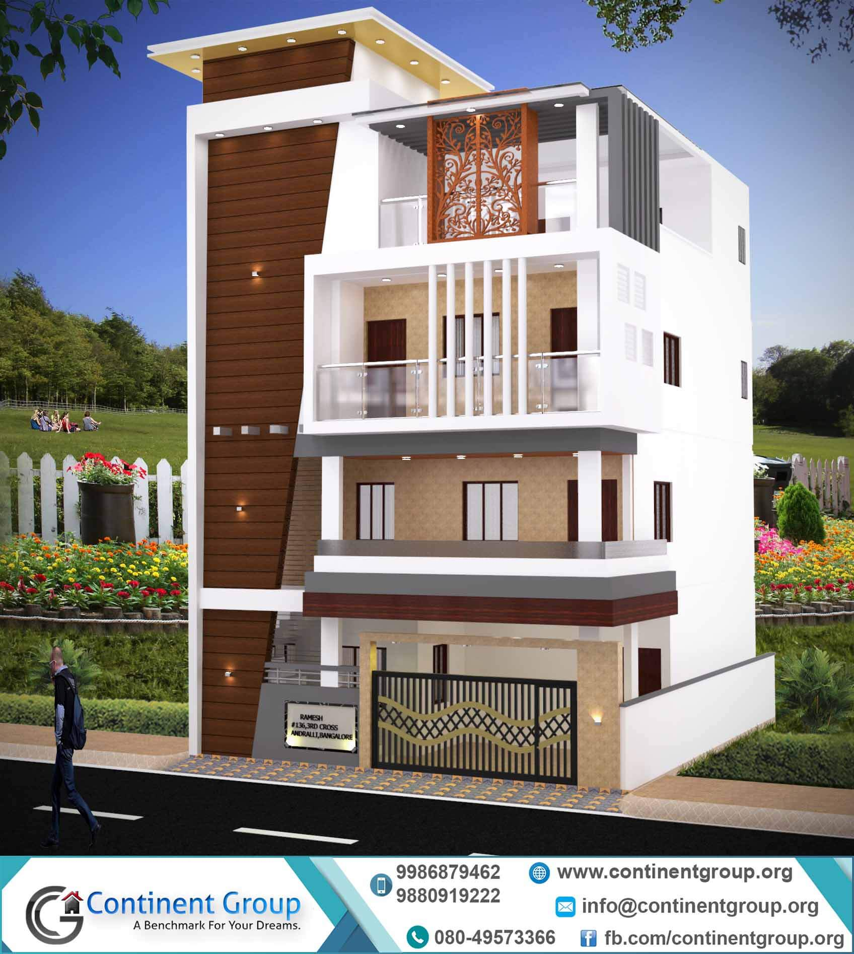 Interior Design Bangalore 3d Building Elevation 3d Front Elevation Continent Group