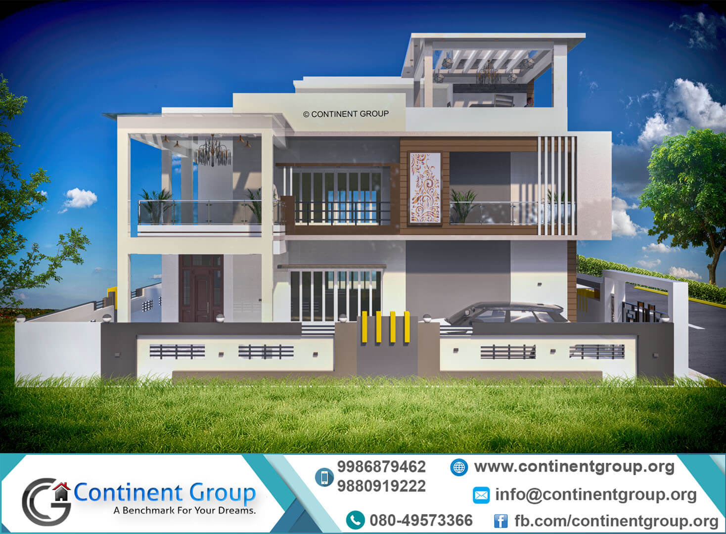 Front Elevation Designs Bangalore : D building elevation front continent group