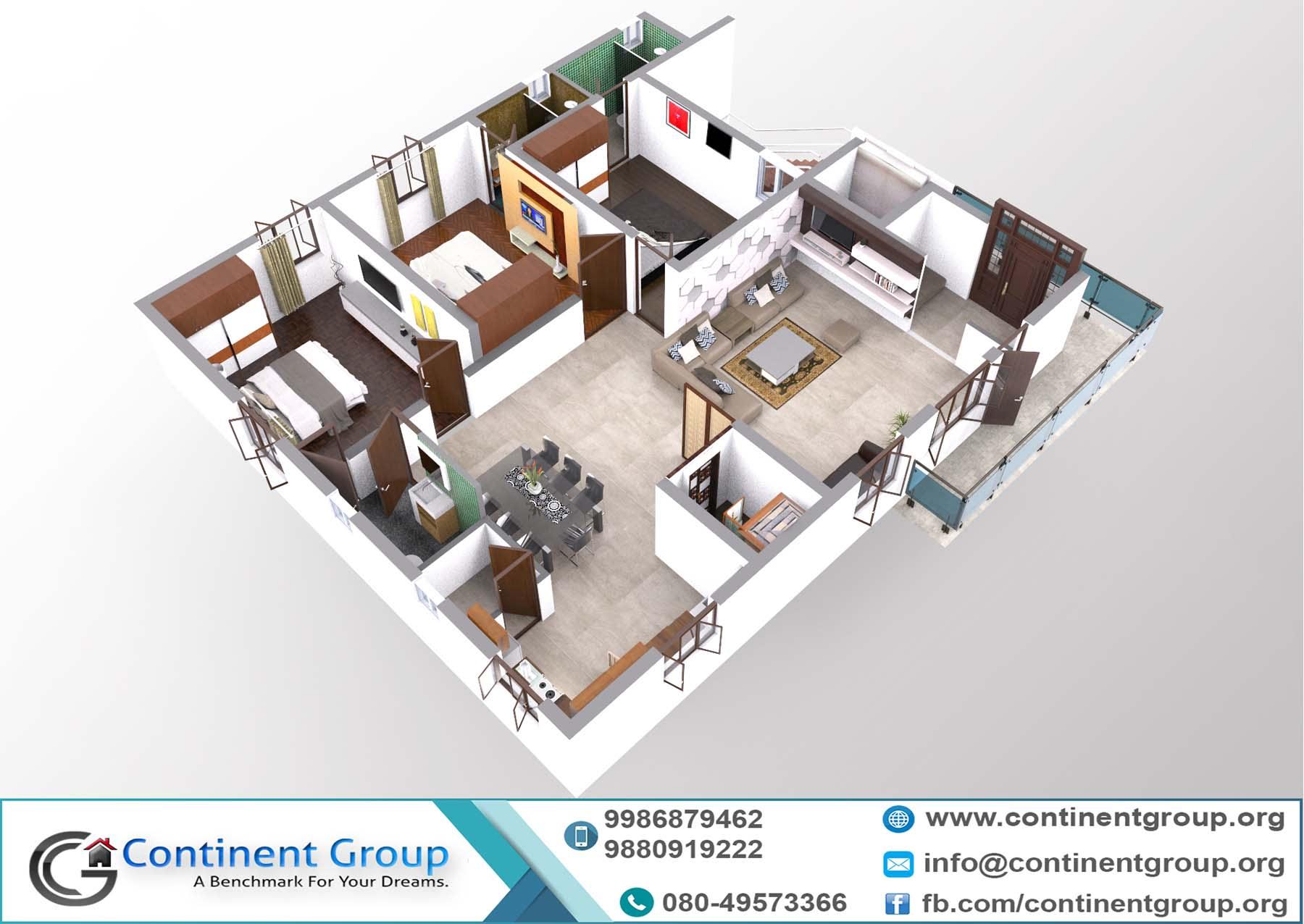 3d floor plan-building plan bangalore