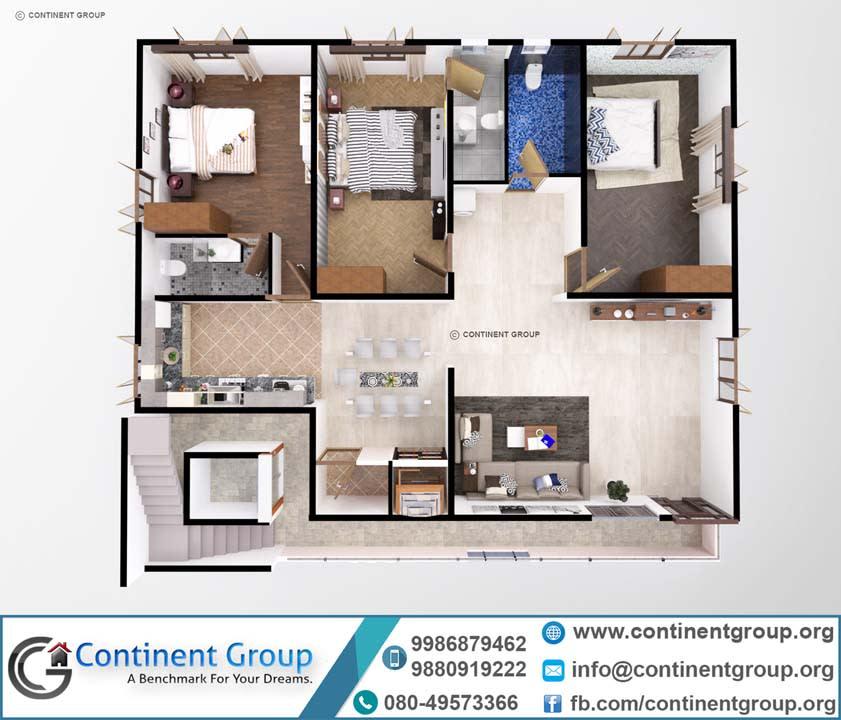 3d floor plan top bangalore service