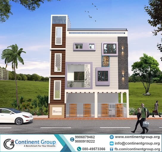 3d house design bangalore-3d front house design