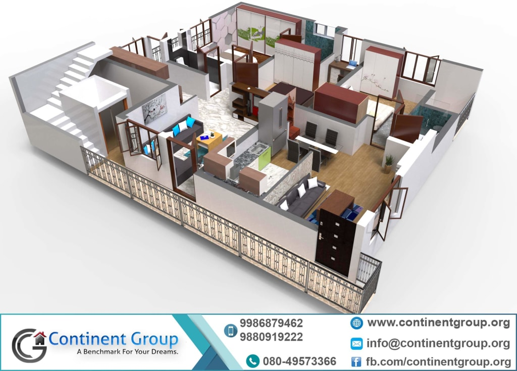 d Floor Plan rented House