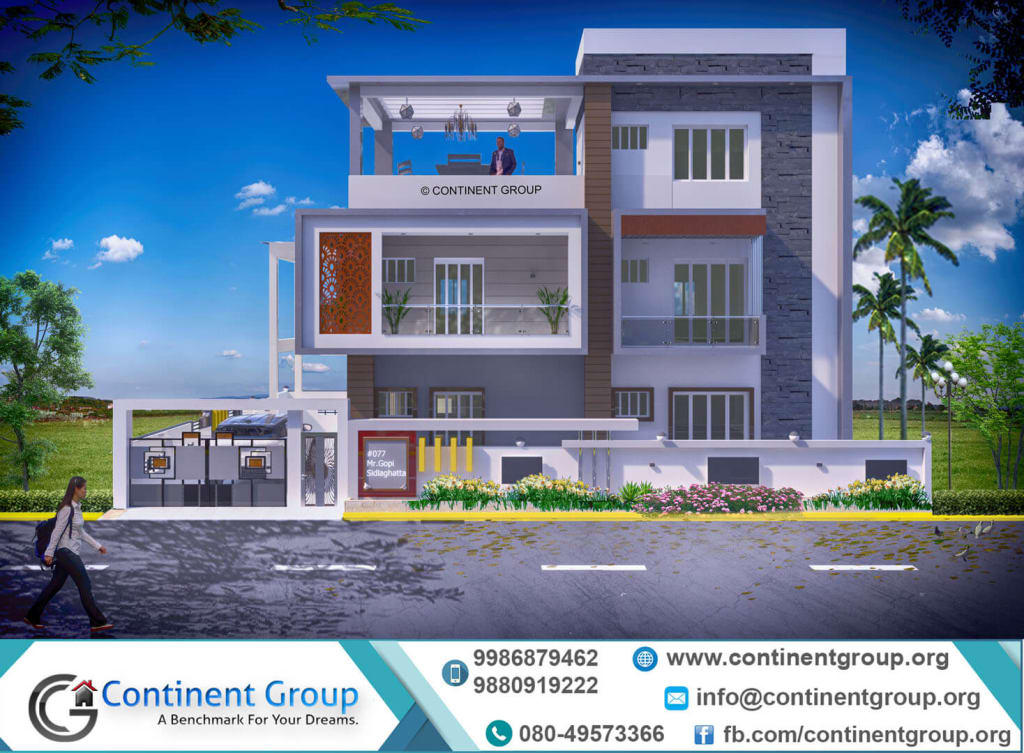 3d building elevation-3d front elevation design