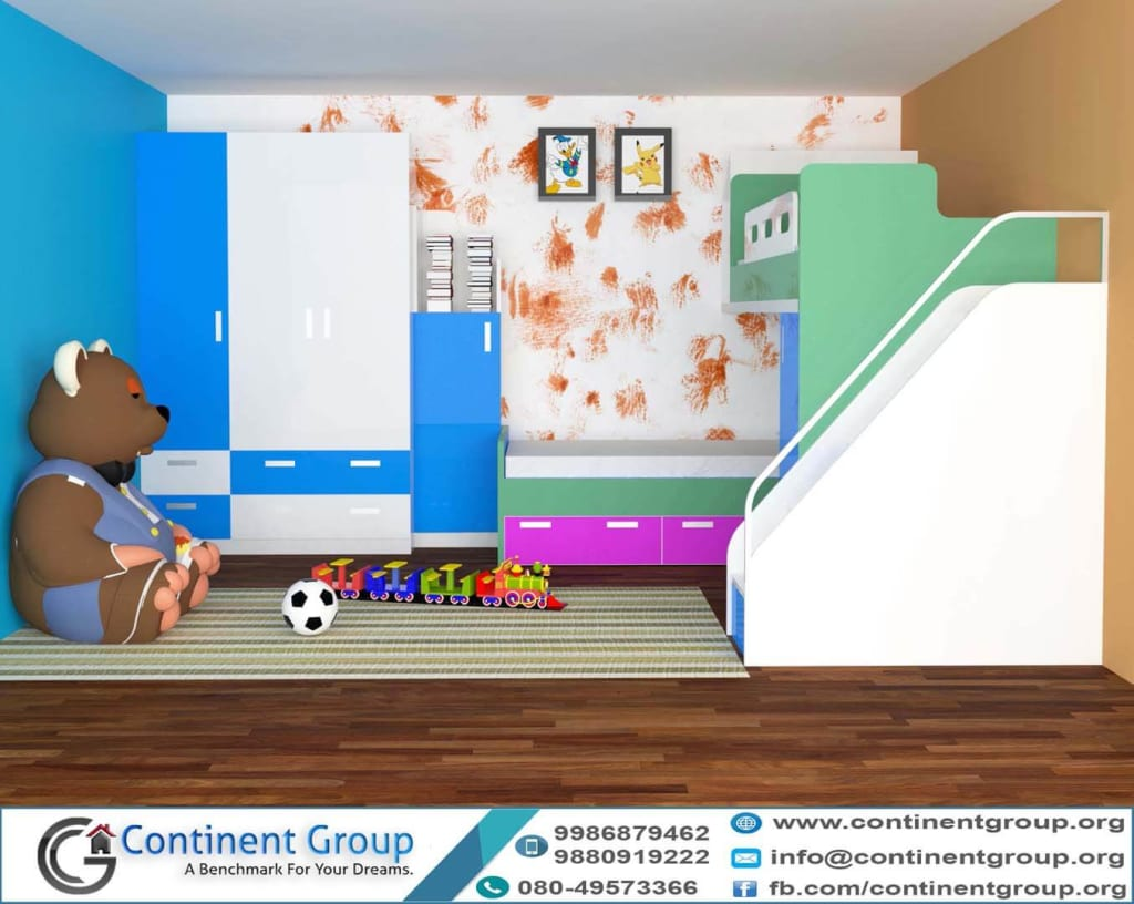 Kids Room Designs and Children's Study Rooms Interior Design Bangalore
