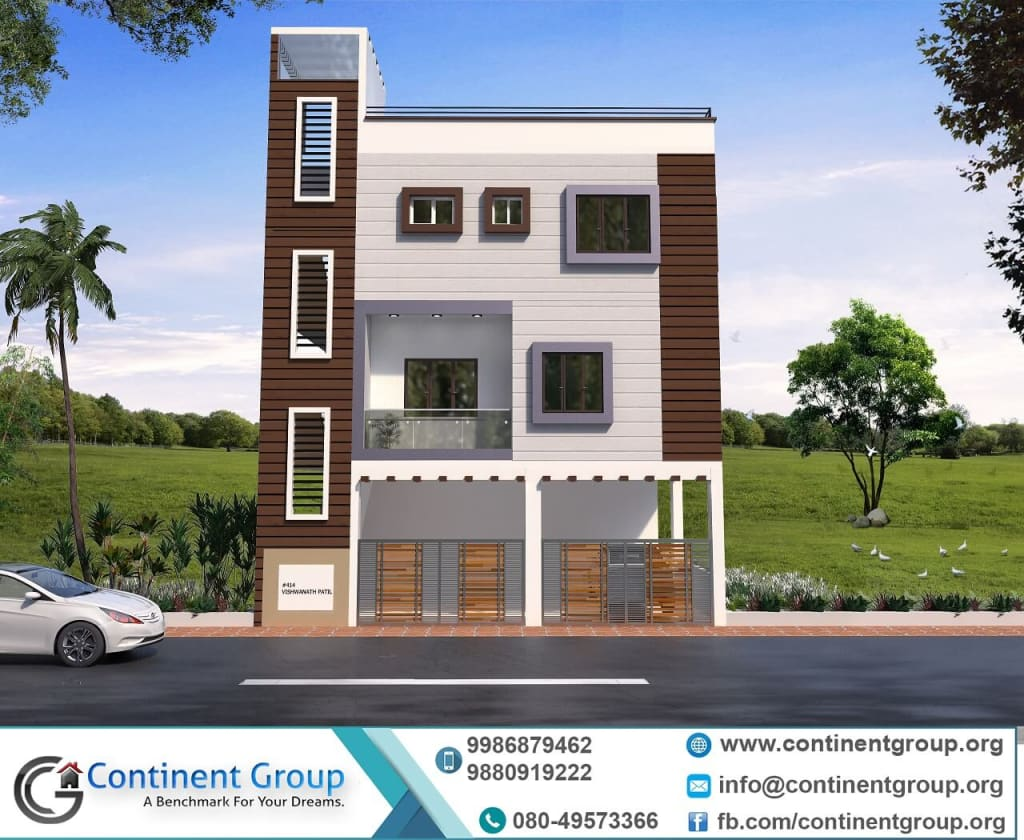 3d front elevation design cladding simlpe elegant design-3d building elevation