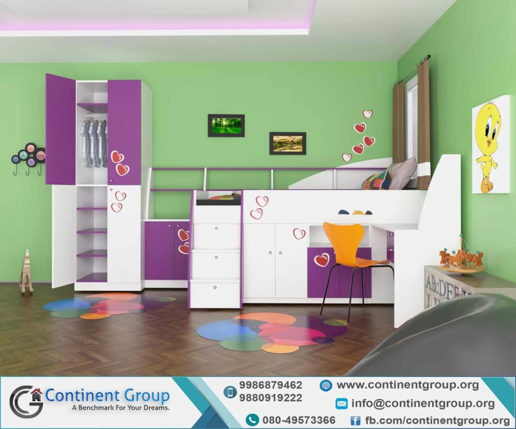 kids room simple design Bangalore Interior Design