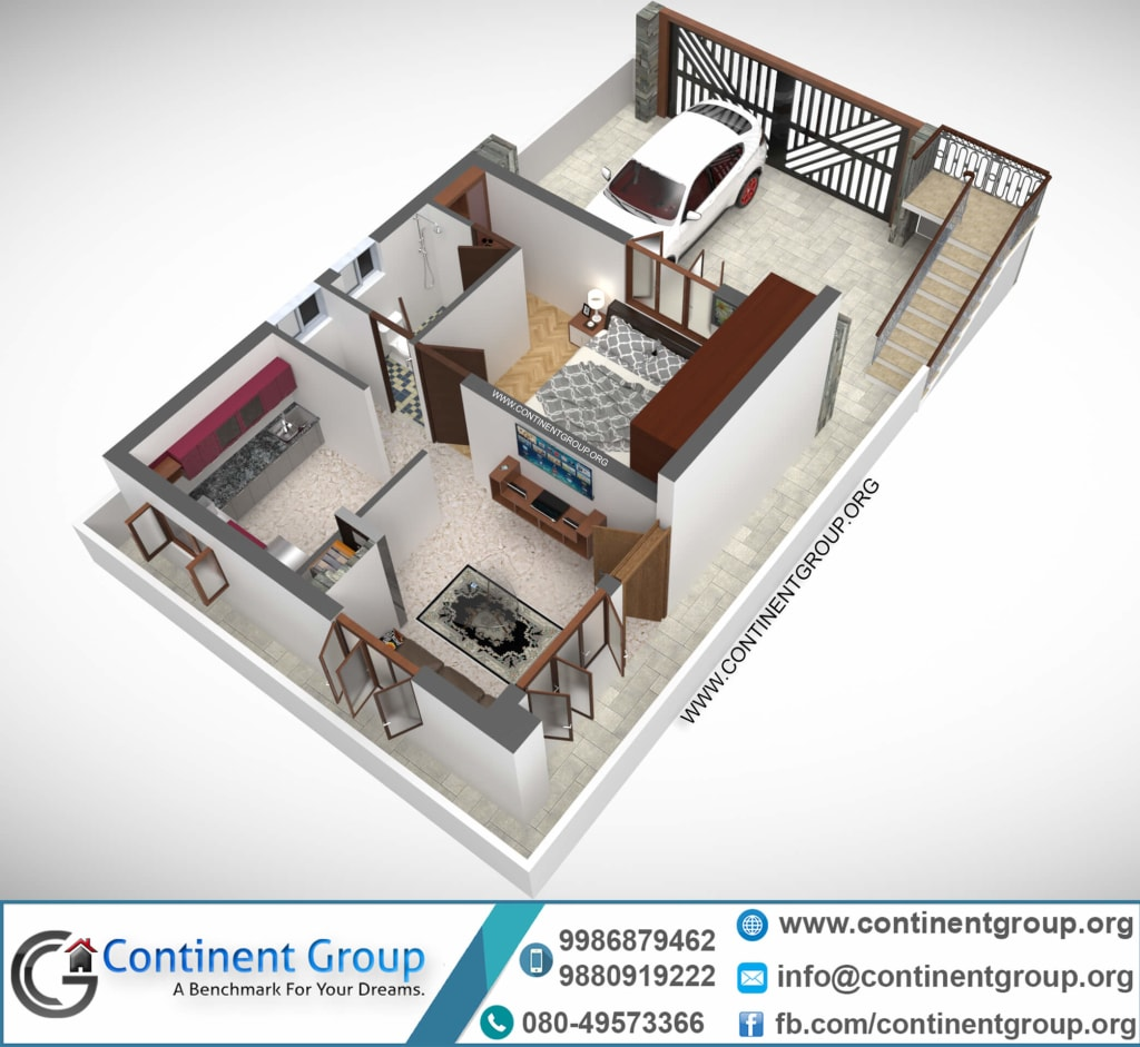 3D Floor Plan Design, Interactive 3D Floor Plan
