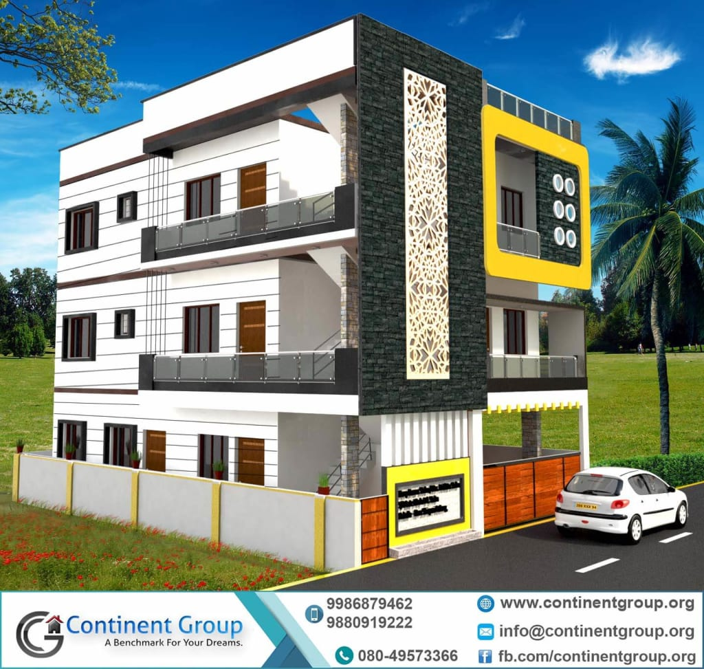3d front elevation-3d building elevation