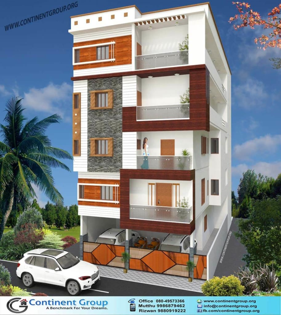 3d elevation design Bangalore-Building Elevation Modern