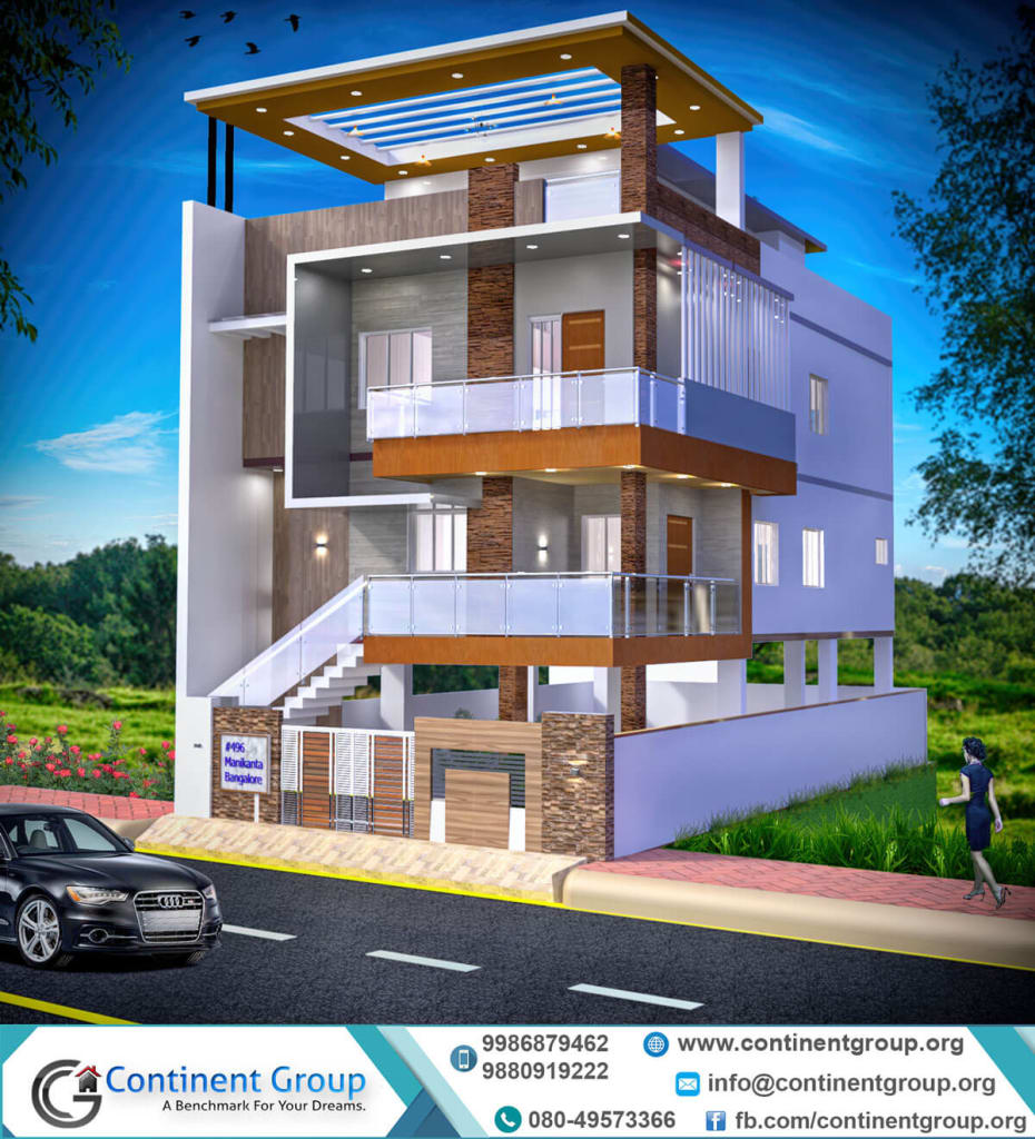 3d building elevation design modern-3d front elevation