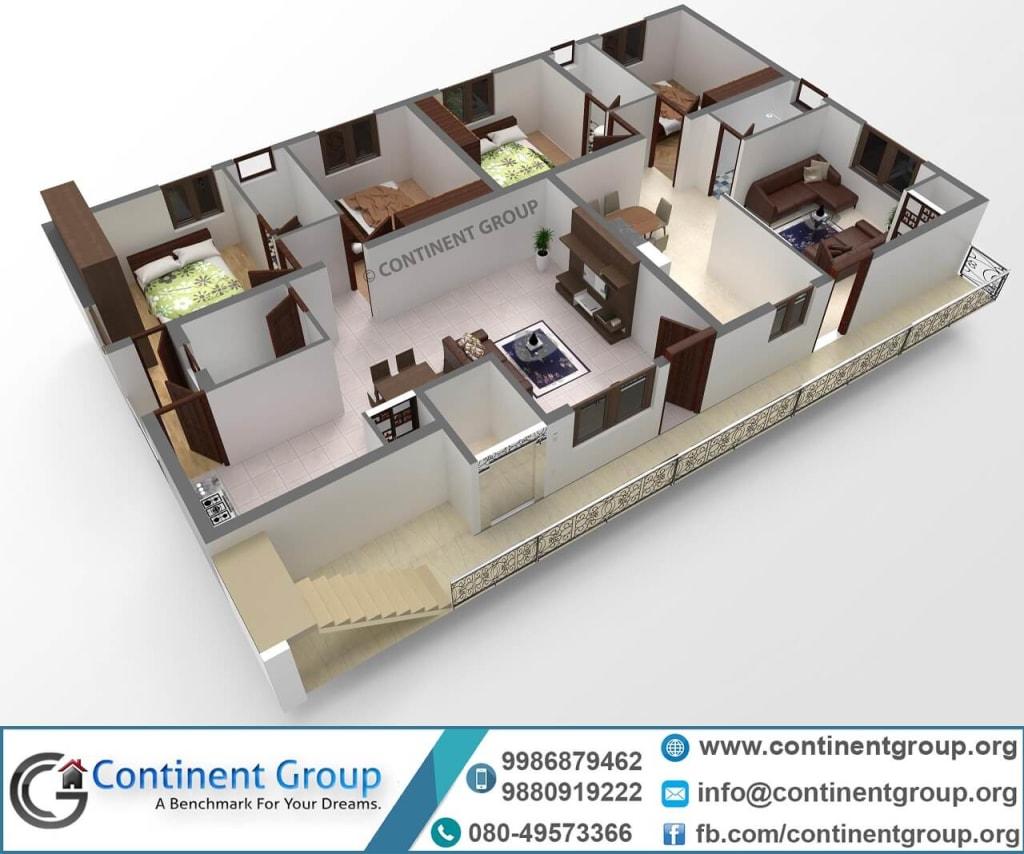 3d plan-3d home plan-new home design