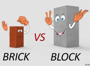 Brick vs Concrete Block