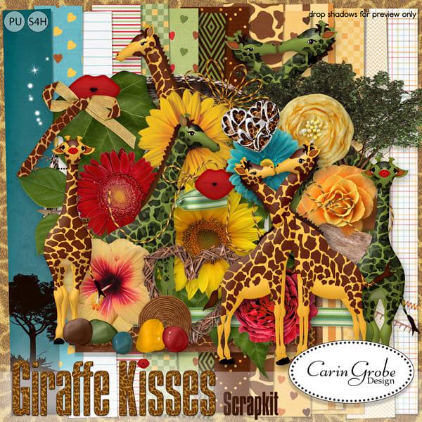 Giraffe Kisses by Carin Grobe Design