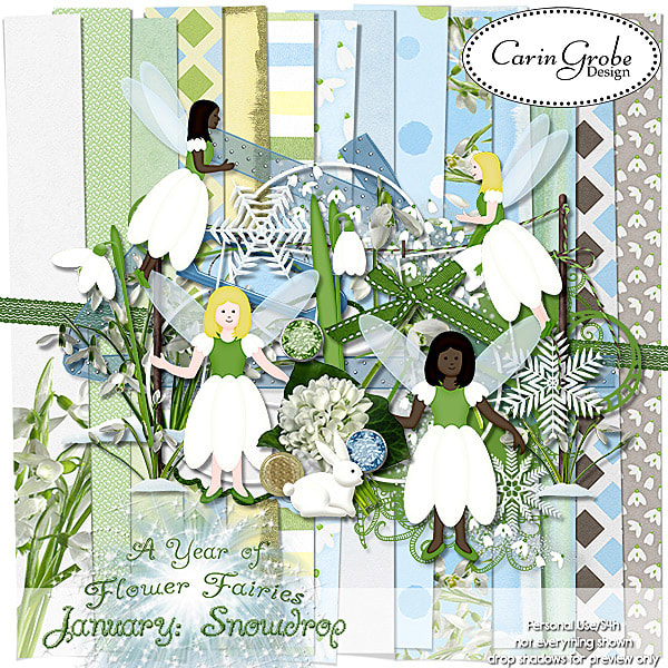 January Snowdrop by Carin Grobe Design