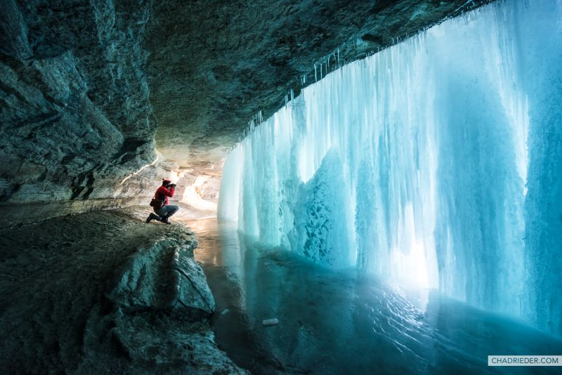 Minnehaha Falls Frozen Waterfall
