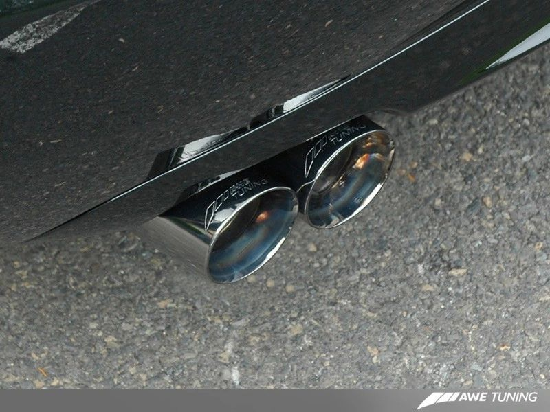 AWE Tuning Track Edition Exhaust - Diamond Black Tips: Audi B7 S4