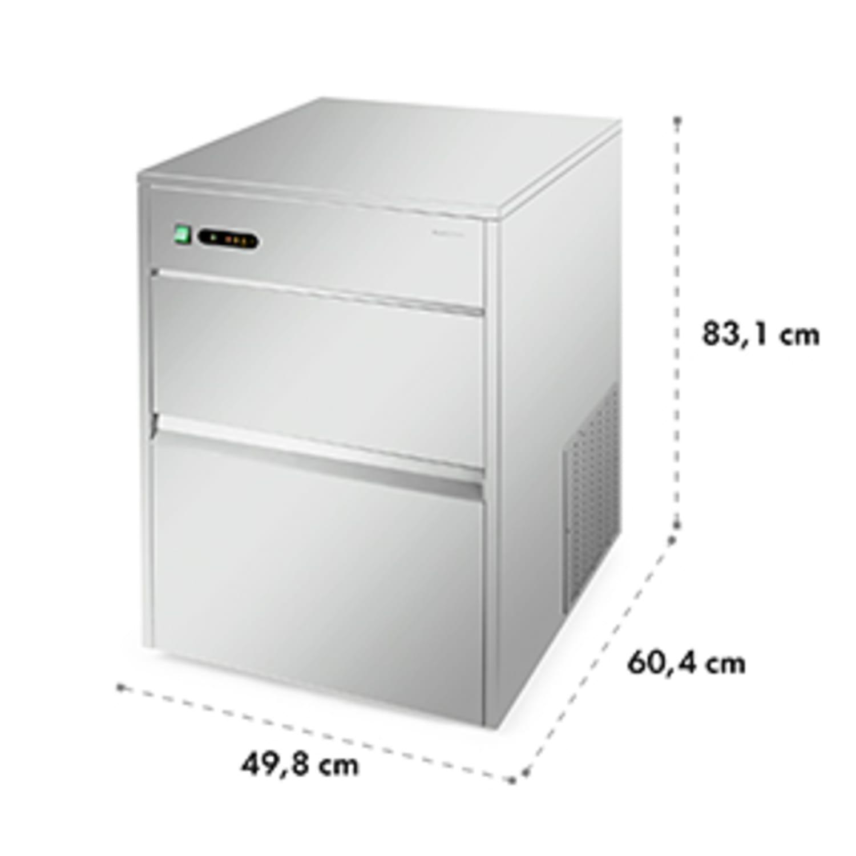Máquina industrial de cubos de gelo 50kg - 380W
