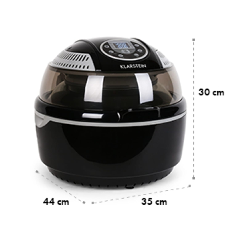 VitAir уред за готвене с горещ въздух 1400W грил и печене, черен