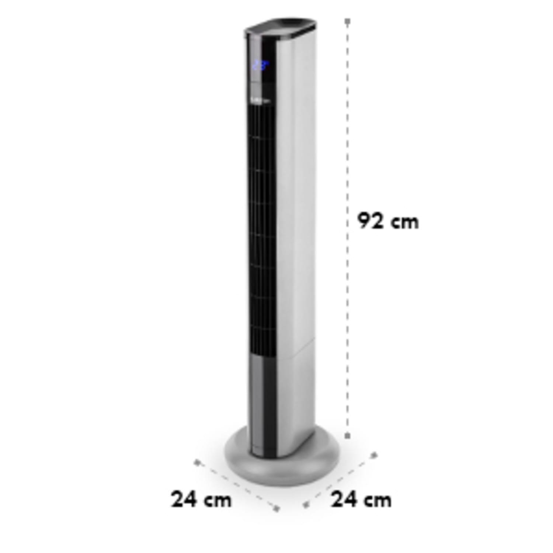 Ventilator Klarstein Skyscraper 3G Pedestal Pedestal fan Touch control de la distanță argintiu