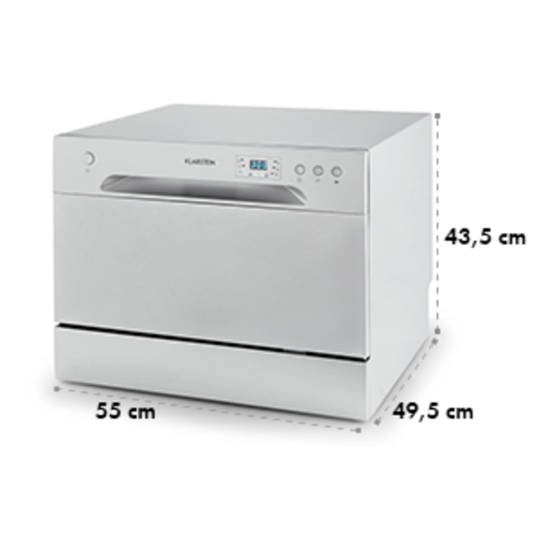 Amazonia 6 lave-vaisselle de table A+ 1380W 6 couverts 49 dB argent