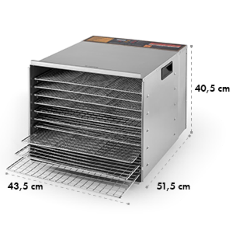 Fruit Jerky Steel 10 Dörrautomat 10 Etagen 1000 W Fläche: 1,5 m²  Timer