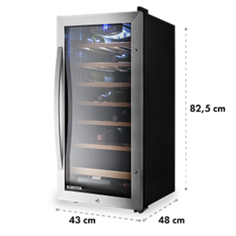 Vinamour 26 Uno Réfrigérateur à vin 26 bouteilles 88 litres Acier inoxydable LED