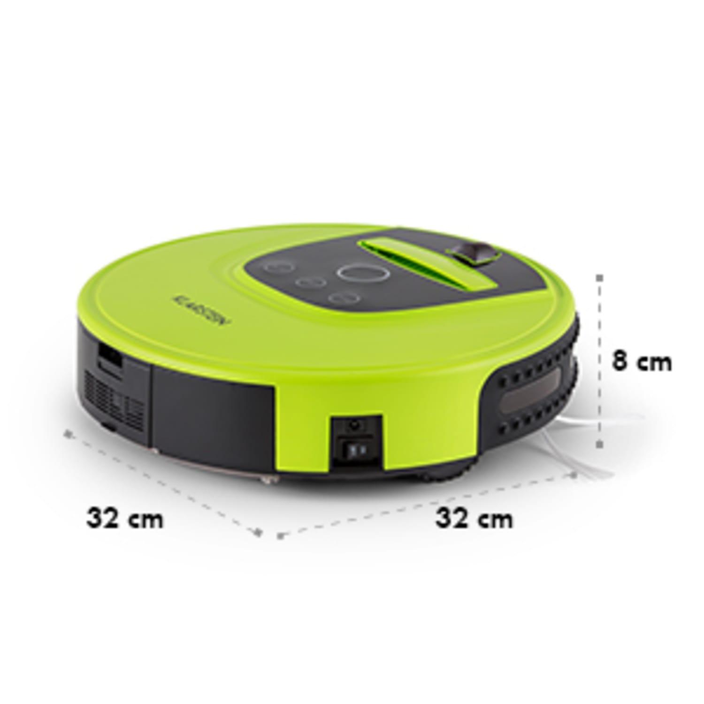 Cleanhero Robotic Vacuum Cleaner remote control 2 working speeds green