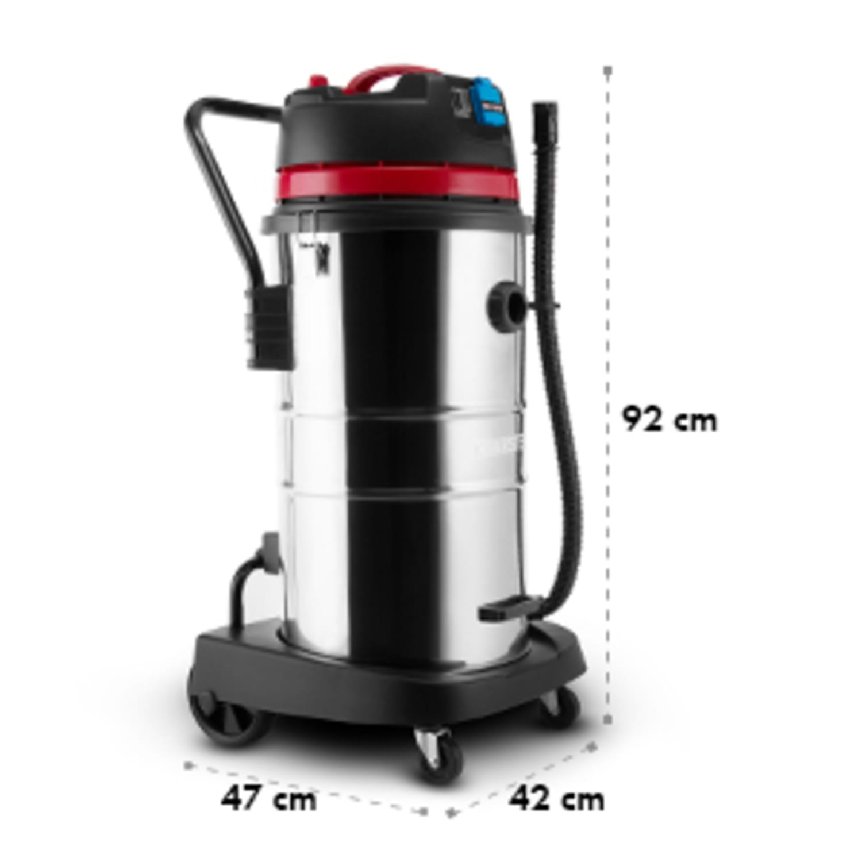 Reinraum Aspirador industrial em seco e húmido 2000W HEPA 60l com tomada eléctrical
