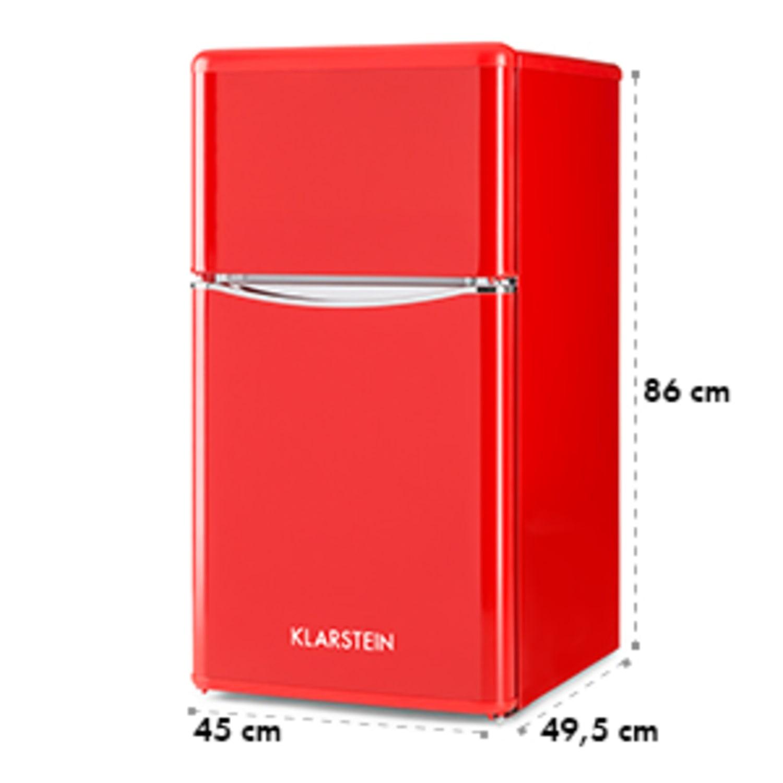 Monroe Red kombinovaná chladnička s mrazničkou 61/24 l A+ Retrolook červená