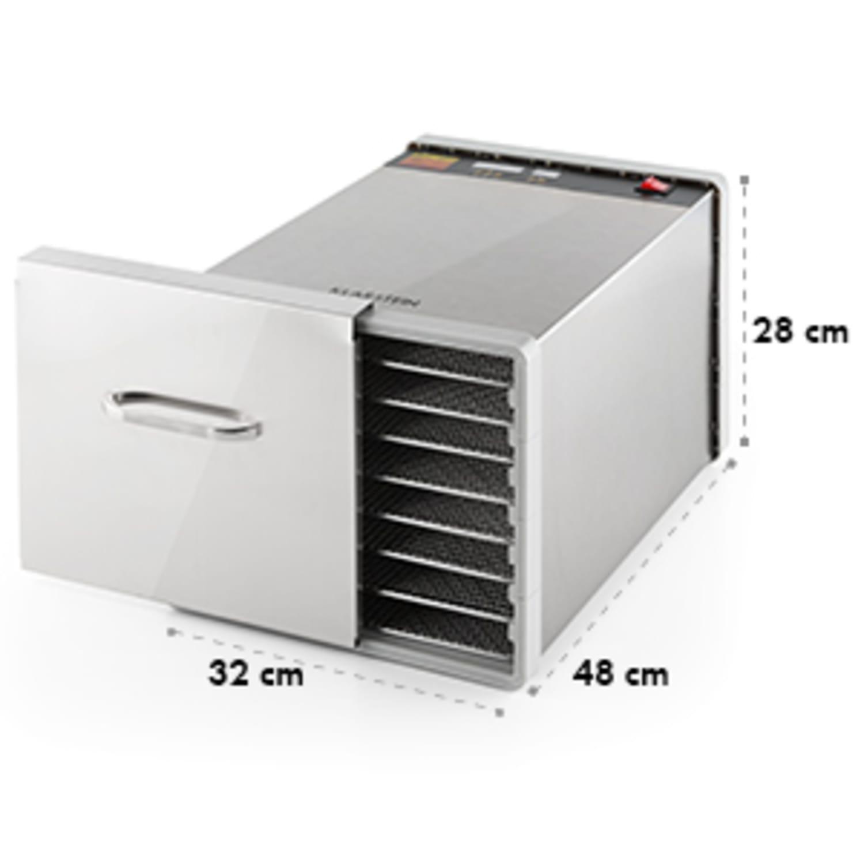 Fruit Jerky Steel 8 Deshidratador secador 630W 8 bandejas acero inoxidable