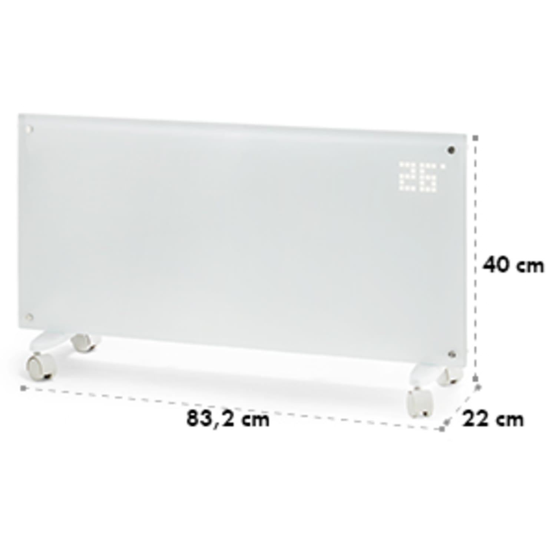 Bornholm Radiatore Convettivo Display LED 2 Livelli Riscaldamento Bianco