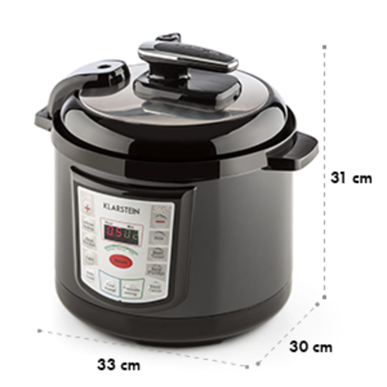 Fast Flavour Multifuncctionele Hogedrukpan Snelkookpan 5 l zwart