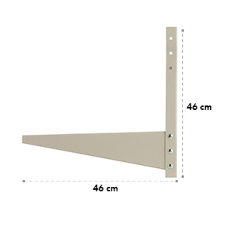 LUA-AC-WM-306 wandbeugel voor airconditioning verzinkt staal - beige
